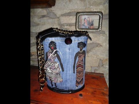 Come fare una borsa simpatica in jeans, how to build a witty bag - YouTube