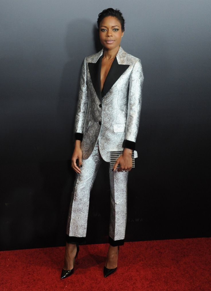 Naomie Harris's star-making Gucci pant suit   Fashion for tall women   tall clothing   tall style   tall ootd   long arms   tall clothes