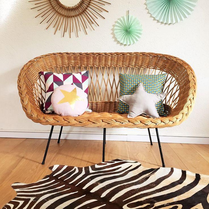 les 25 meilleures id es de la cat gorie rotin sur pinterest t te de lit en rotin meubles en. Black Bedroom Furniture Sets. Home Design Ideas