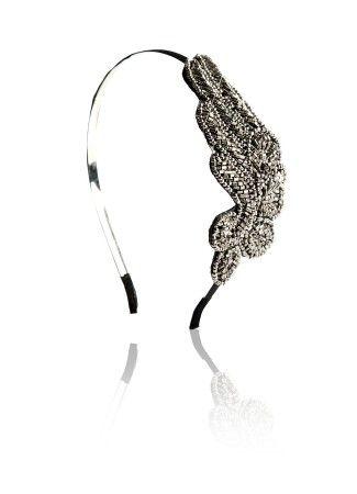 Grey Headband, Grey Hairband : Buy Grey Embroidered Hairband Online