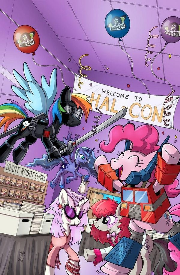 My Little Pony Friendship Is Magic #24 Convention-Exclusive Cover - The Return of Pinkie Pie's Optimus Prime Cosplay