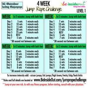 Jump rope challenge, Challenges and Ropes on Pinterest