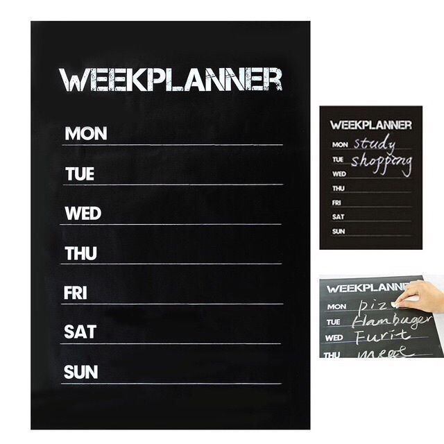 New year diet weightloss chalkboard wall sticker planner Slimming World weight  | eBay