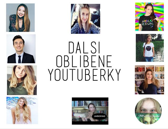 My another favourite Youtubers - part #3. There are czech speaking youtubers, but also some english speaking ones, so you can check them out. If you don't speak czech please use the translator on the right side. Thank you♥.