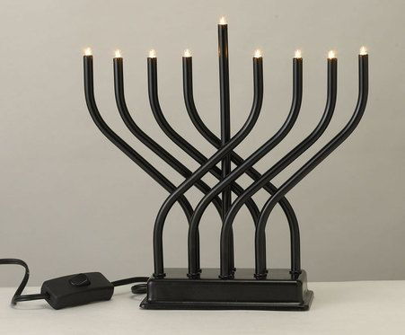 Electric Menorahs for Hanukkah are becoming very popular as they don't require candles. Electric Menorahs are also safer for households with children and with large pets. Bring the lights of Chanukah into your home safely and conveniently!