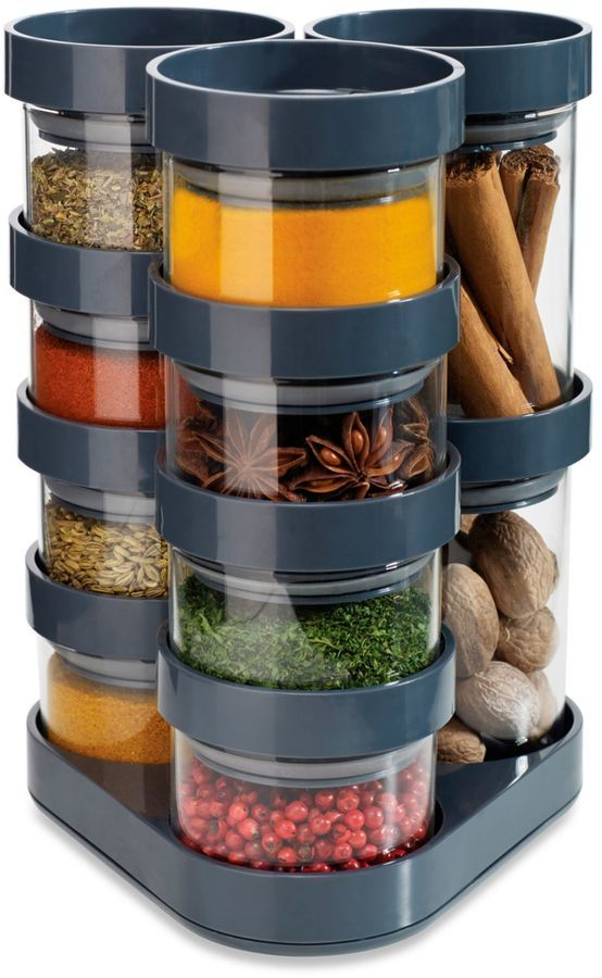 What a great spice storage set up. Great for saving space too!