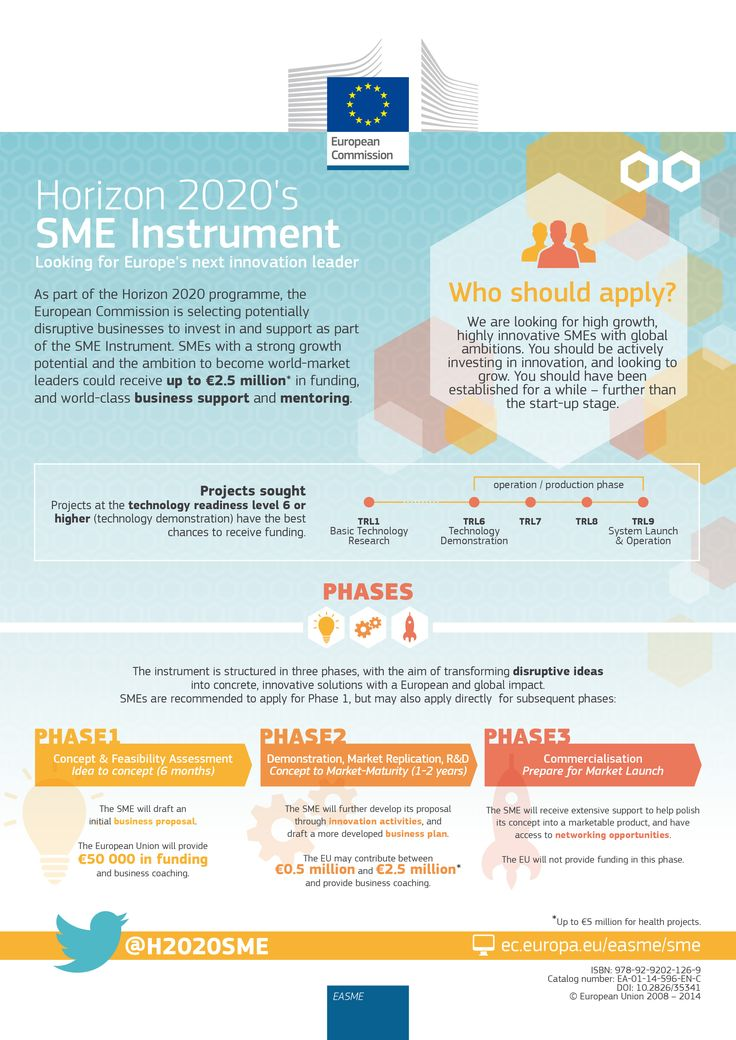 #Horizon2020 SMEs instrument: Looking for Europe's next innovation leader #innovation #research #H2020 #EuropeanUnion #infographics