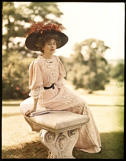 Beautifully colored ~ Lionel de Rothschild, Lady Helen Vincent, Seated, ca. 1910, Rothchild Archives
