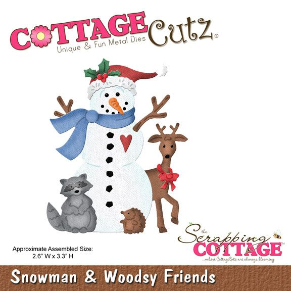 CottageCutz Snowman & Woodsy Friends (4x4)