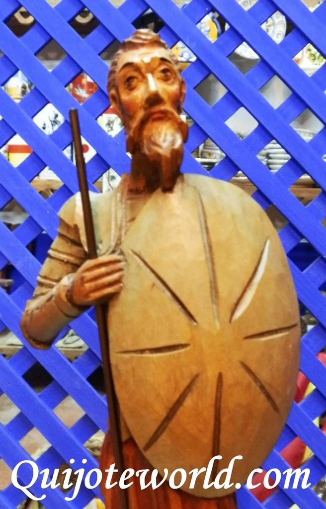 Figuras don quijote de la mancha artesan as en madera y - Artesania y decoracion ...