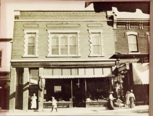Historical George Vick Exterior 1911.  Now Mariposa Market Open 7 Days a week for your shopping fun!