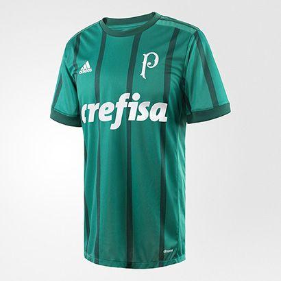 Acabei de visitar o produto Camisa Palmeiras I 17/18 s/nº  Torcedor Adidas Masculina