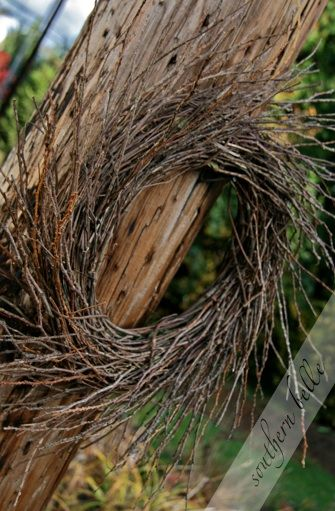 Rediculously easy!! Way better than starting a wrestling match with twigs from scratch! DIY twiggy wreat beginning with an inexpensive storebought wreath. So simple.