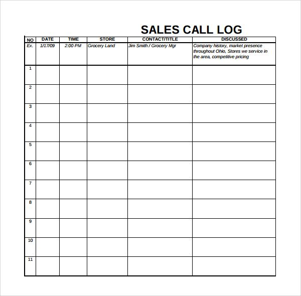 13 Sales Log Templates Templates Dashboard Examples