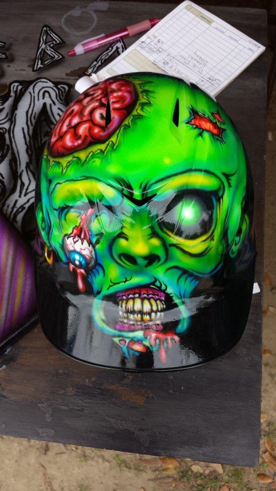 Custom Airbrush Helmet, baseball, softball, batting helmet