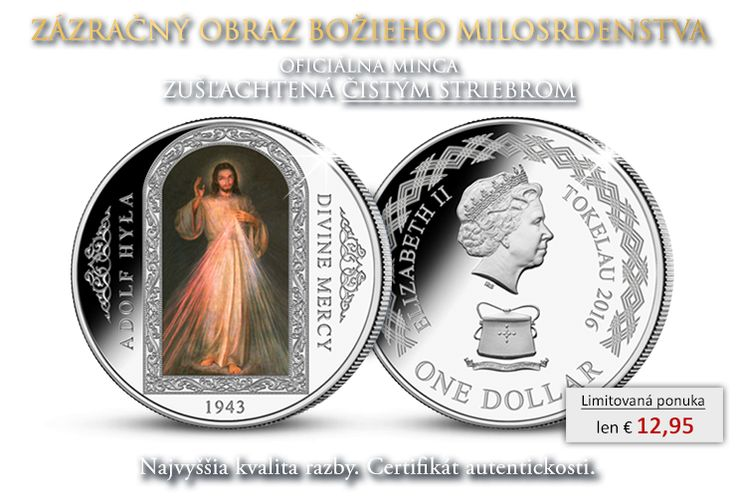 Oficiálna minca Božie milosrdenstvo