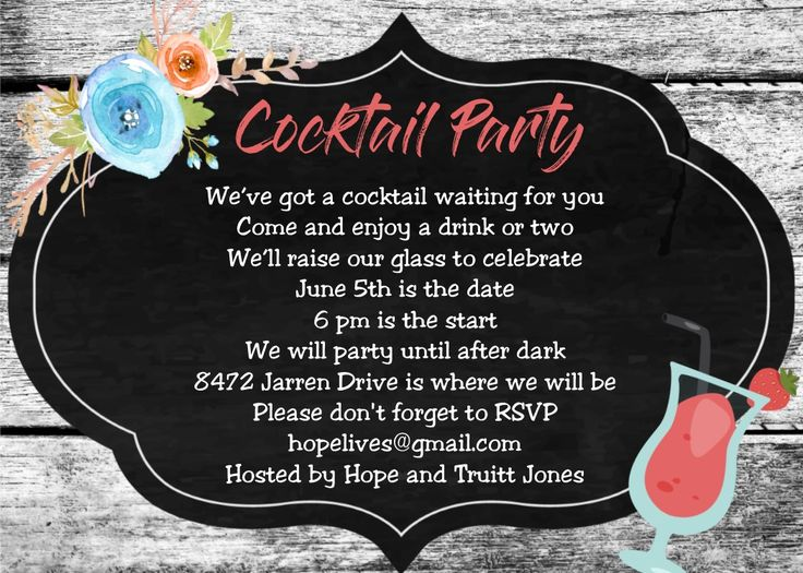 88 best Cocktail Party Invitations images on Pinterest
