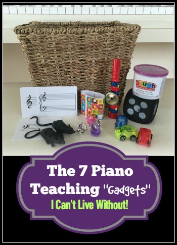 You Have WHAT Beside Your Piano? The Teaching Gadgets I've Used For 16 Years