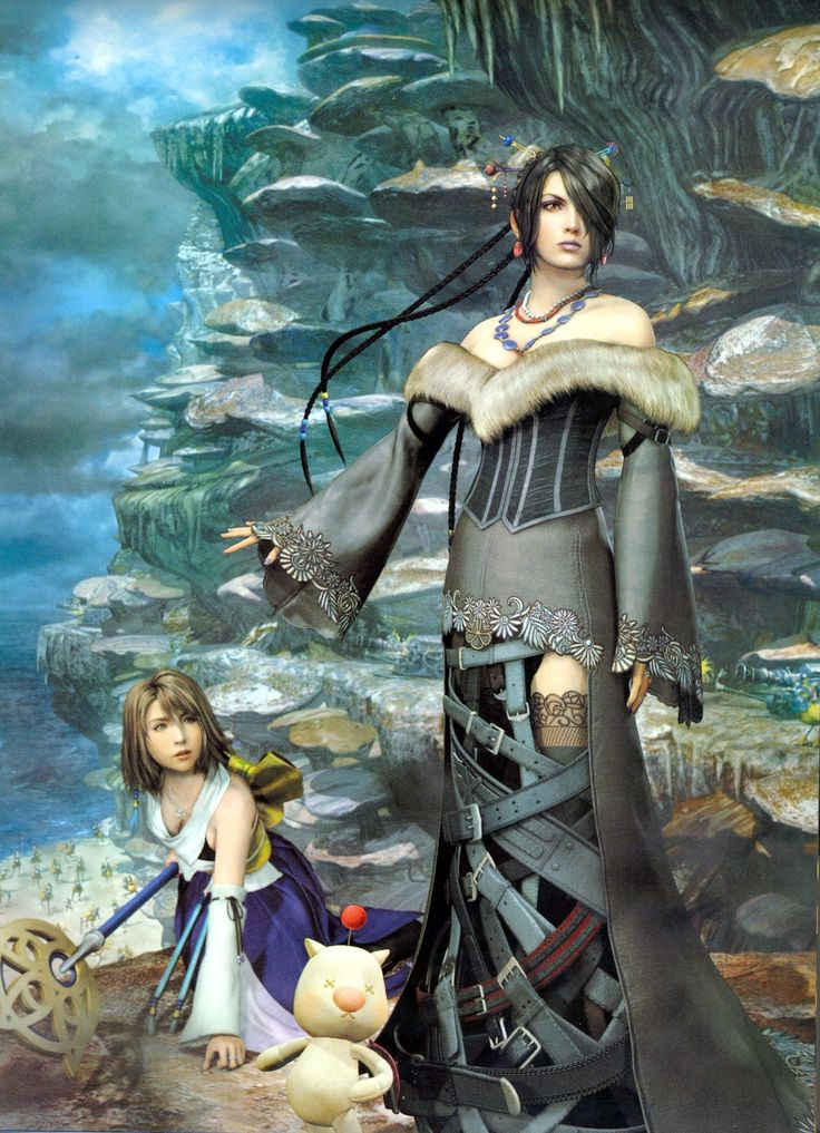 final fantasy video games yuna lulu final fantasy x 1612x2228 wallpaper