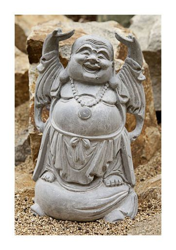 """Laughing Buddha Statue """"Raise the roof"""""""