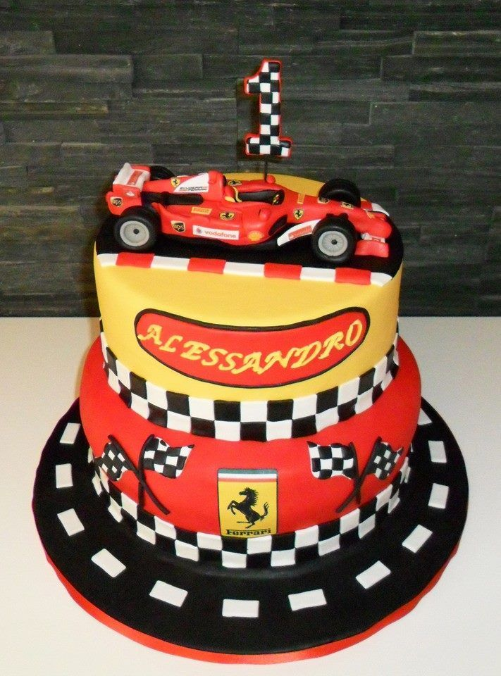 Cake Decorating Quorn : 36 best Auto piste ferrari images on Pinterest Ferrari, Cakes and Race car party