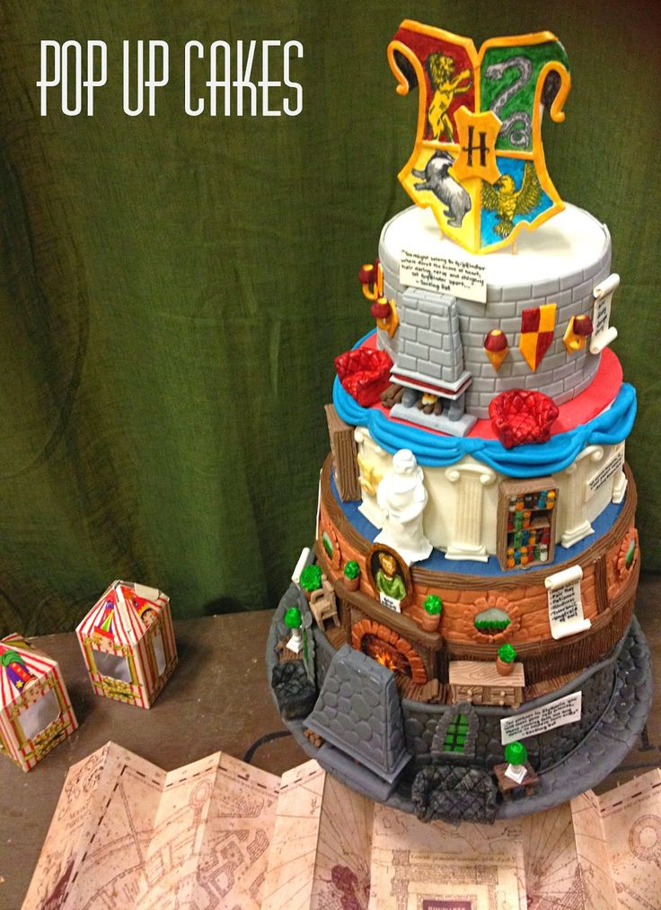 Hogwarts Houses Harry Potter Cake Harry potter cake