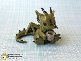 Green Tea Dragon by ~whitemilkcarton on deviantART