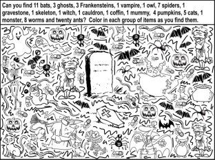 Find A Wide Range Of Free Halloween Printable Activities And Lesson Ideas Link To Fun Facts Page Borders Scary Poems Decorations