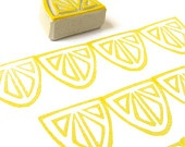 FLY Paper Airplane Stamp Hand Carved Rubber Stamp door creatiate