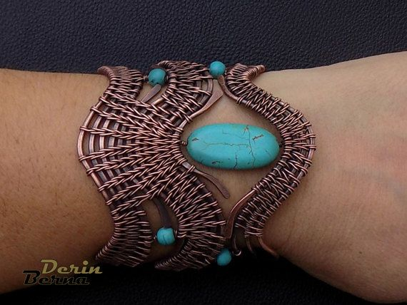 Wire weaving wrapping braiding tutorial ,adjustable cuf bracelet with turquoise stones and copper wire . Gemstones bracelet PDF tutorial  Very clear instruction with 97 pictures illustrating every step all the way. Level : Intermediate If you have any questions on any step of the tutorial ,or need any guidance please feel free to contact me .  The file is an instant download. You can download this file as soon as you complete your purchase.  If there are any problems with downloading please…