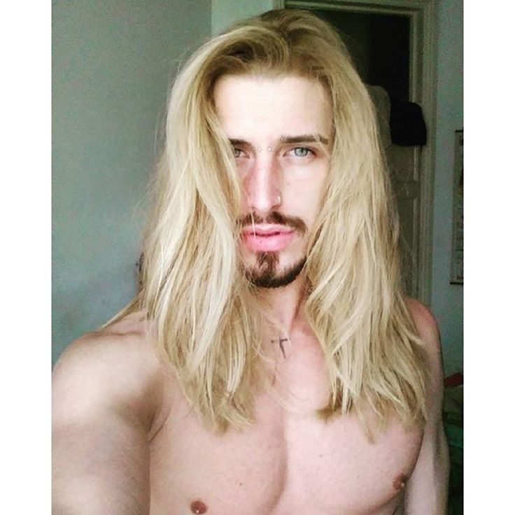 Porn Muscle Man Blonde Hair Long 120