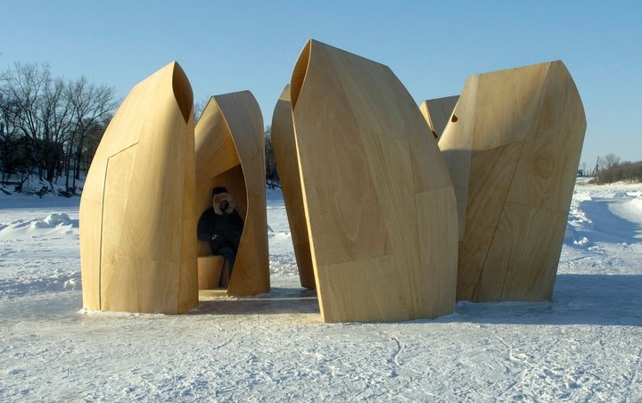 Skating Shelters in Winnipeg, Canada by Patkau Architects