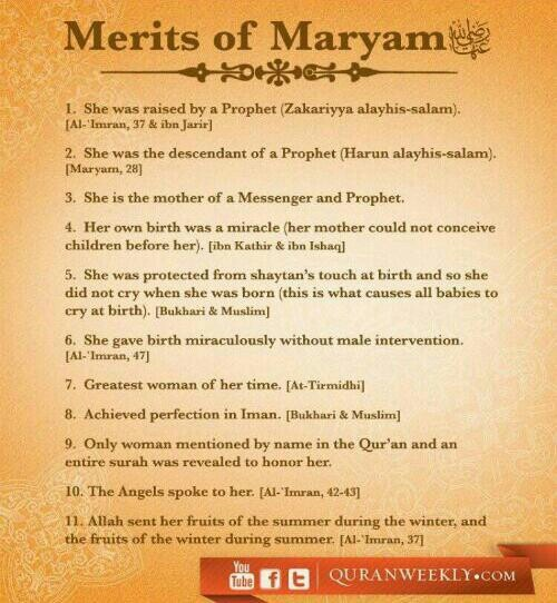 mary the mother of jesus an exemplary role model in islam.
