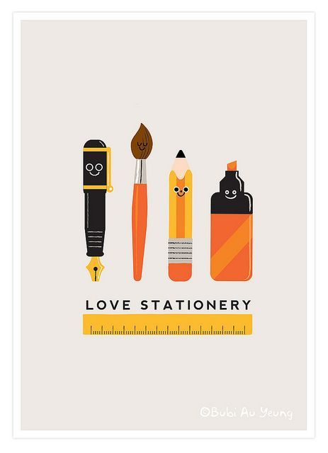 """""""Love Stationary"""" illustration by Bubi Au Yeung."""