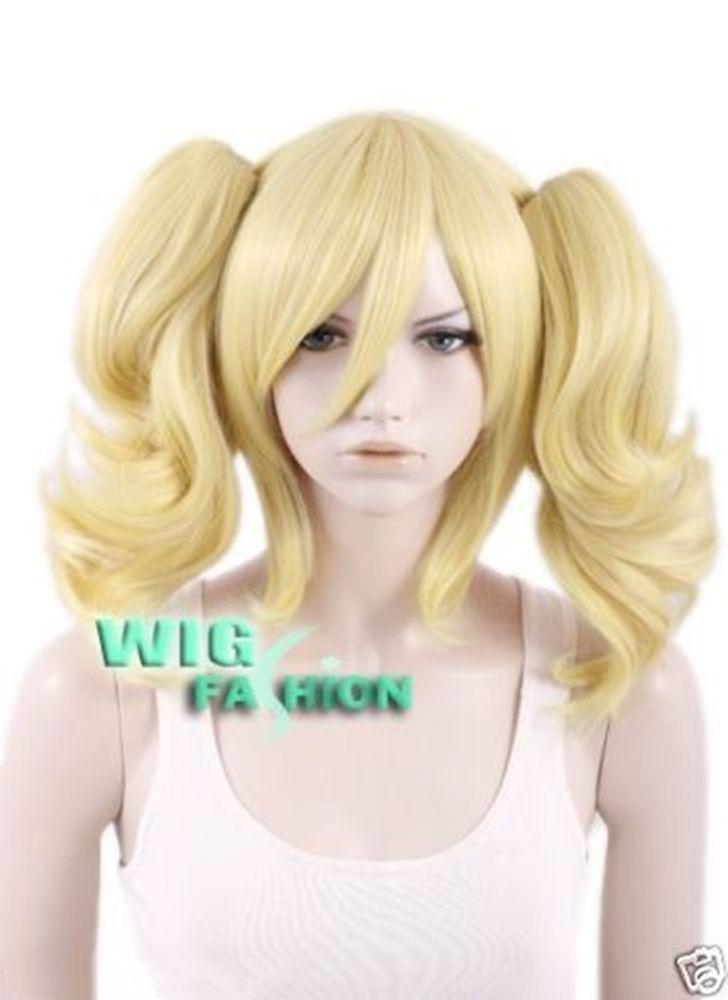 BATMAN Harley Quinn Short Golden Blonde Anime Cosplay Hair Wigs