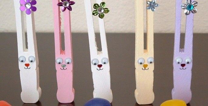 clothespin bunnies so cute!