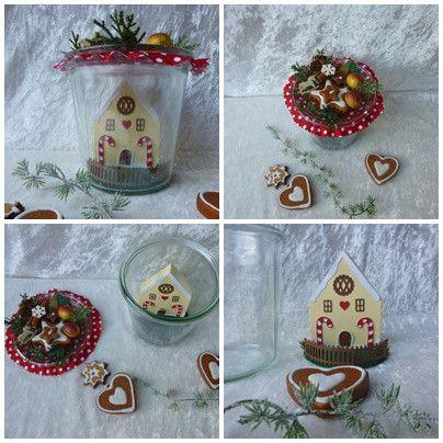 Lebkuchen-Haus im Weckglas Weihnachten im Glas von Die Geschenkidee auf DaWanda.com