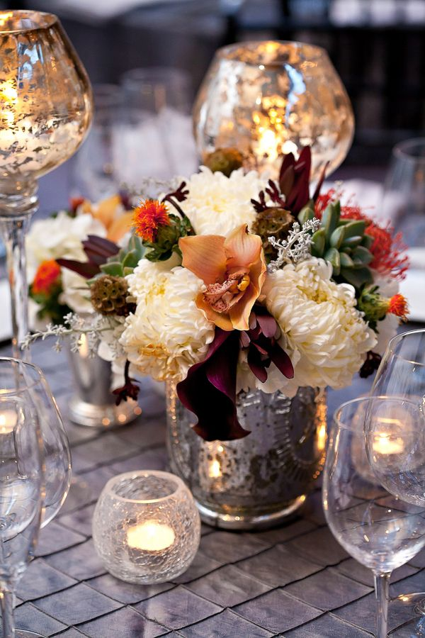 Best mercury glass centerpiece ideas on pinterest