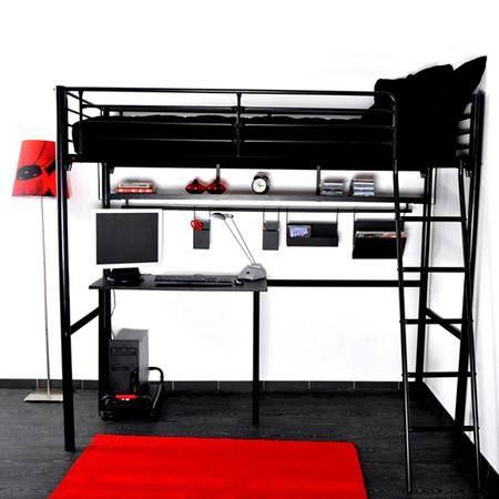 Les 25 meilleures id es concernant lit mezzanine 140 sur for Lit mezzanine avec bureau integre