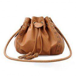 $9.56 Fashionable Brown Tied Slanting Bag/One-Shoulder Bag For Female