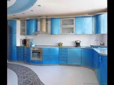 Blue kitchen design decorations ideas