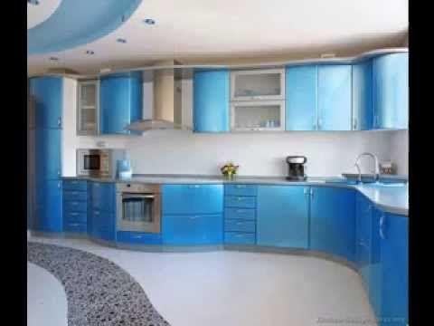 Blue kitchen design decorations ideas