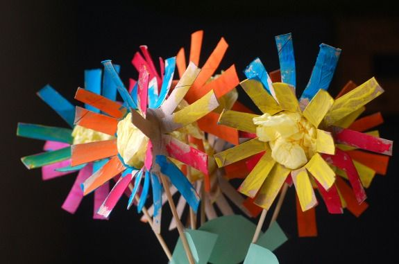 kids crafts tp flowers