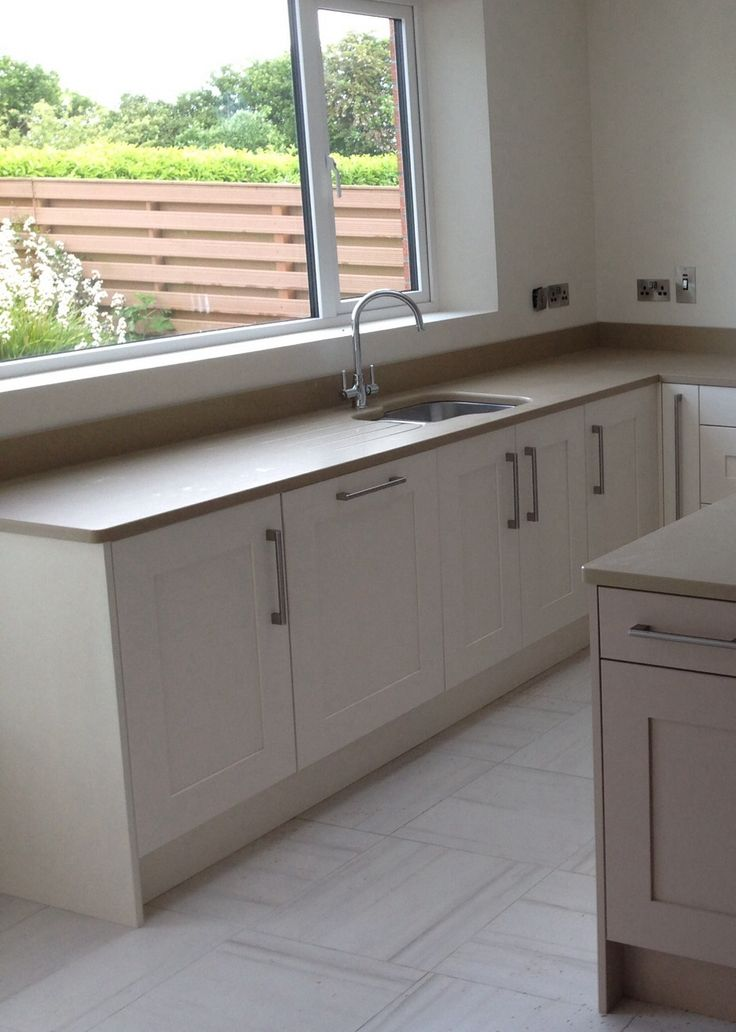 Shaker painted contemporary kitchen in Farrow & Ball. By Newhaven Kitchens, Carlow