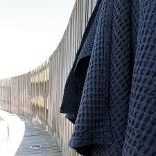 Billedresultat for the organic company waffel towels blue
