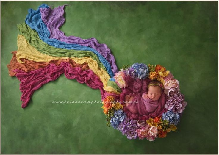 25 rainbow baby photos guaranteed to light up your day. Luisa Dunn took this photo of a flower wreath surrounding this sleeping sweetie.