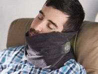 Sleep comfortably on a flight, bus ride, or a car trip—even in the middle seat—with the Trtl Pillow. This lightweight, easy-to-pack nap scarf has flexible internal supports that hold your head in a natural position—no need to lean on anyone or anything. Pull the washable fleece scarf up for coziness (or to hide that unseemly drool).