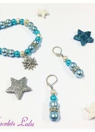 Kupuj mé předměty na #vinted http://www.vinted.cz/doplnky/sety/10531646-vanocni-set-s-vlockou-naramek-a-nausnice