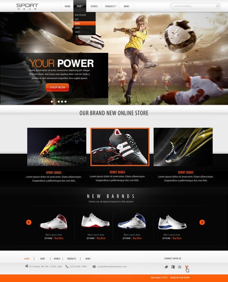 Sports website design FOR SALE by ~yuval10203 on deviantART  #webdesign