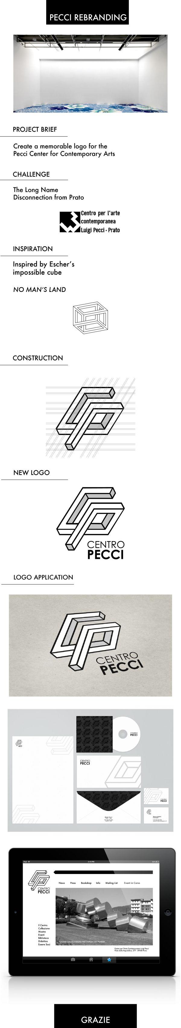 Rebranding Centro Pecci by Nagla Gaafar, via Behance